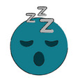 Sleepy eyes zzz emoji icon image vector image