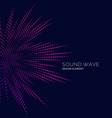 sound wave on dark background
