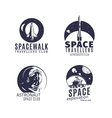 Space logo set in retro style