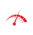 speedometer logo design template vector image vector image