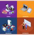 stem education design concept vector image vector image
