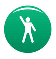 stick figure stickman icon green vector image