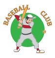 sticker baseball vector image vector image