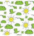 summer pattern green yellow vector image vector image