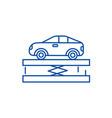 suspensioncar service line icon concept vector image vector image
