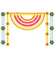 traditional indian flower garlands decoration for vector image