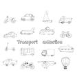 Transport doodle set vector image