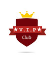 vip club sign label red vector image vector image