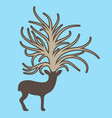 deer with big tree on the head vector image