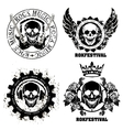 Music skull design elements with font type and vector image