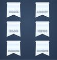 Navigation design elements vector image