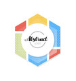 abctract geometric logo template minimalist vector image