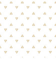 abstract gold triangle white pattern image vector image vector image