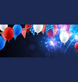 american background with flags and balloons vector image