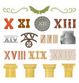 ancient historical antique architecture of vector image vector image