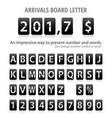 arrival board letters set vector image