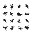 bird and duck Siluate style black color vector image vector image