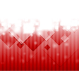 Bright red hi-tech background vector image vector image