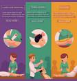 cartoon laser epilation salon banners set vector image
