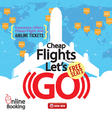 Cheap Flights Advertising Banner vector image