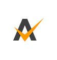 check letter a logo icon design vector image vector image