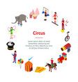 circus amusement and attraction banner card circle vector image