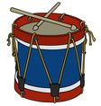 Classic color drum vector image vector image