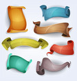comic banners and parchment scrolls for ui game vector image vector image