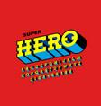 comics book style font super hero vector image vector image