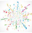 confetti and serpentine explosion burst background vector image