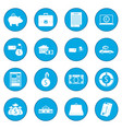 credit set icon blue vector image