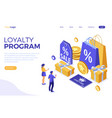 customer loyalty programs banner vector image vector image
