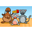 Cute pets characters cartoon