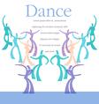 Dance Art template vector image