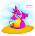dragon in desert vector image