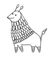 fantasy animal character decorative coloring page vector image