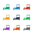 fast food cart icon white background vector image vector image
