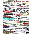 financial recovery headlines vector image