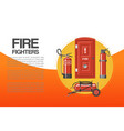 fire fighters service poster vector image