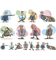 funny businessmen set vector image vector image