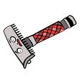 Funny doodle straight razor ready to shave your vector image