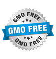 gmo free round isolated silver badge vector image