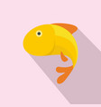 gold fish icon flat style vector image vector image