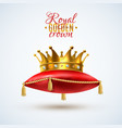 goyal crown on red pillow vector image