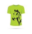 green horse t-shirt vector image