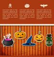 happy halloween greeting poster vector image vector image