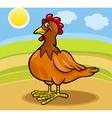 hen farm animal cartoon vector image vector image