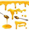honey drops blots seamless pattern vector image vector image
