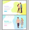 how to build happy relationship boyfriend set vector image vector image