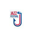 jazz festival sign vector image vector image